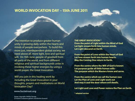 World Invocation Day 15 June 2011