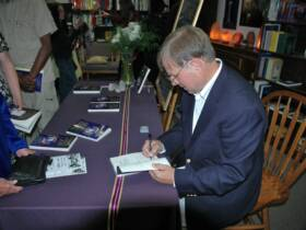 Journey of the White Robes, book signing, Photo by Mike Machado