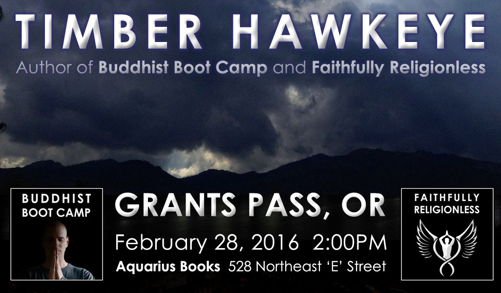 photo timber hawkeye event at aquarius books and gifts grants pass oregon feb 2016